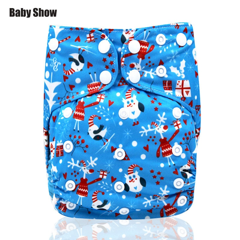 Baby show cotton washable diapers leak-proof soft breathablecartoon digital printing washable cotton diapers instead of diapers