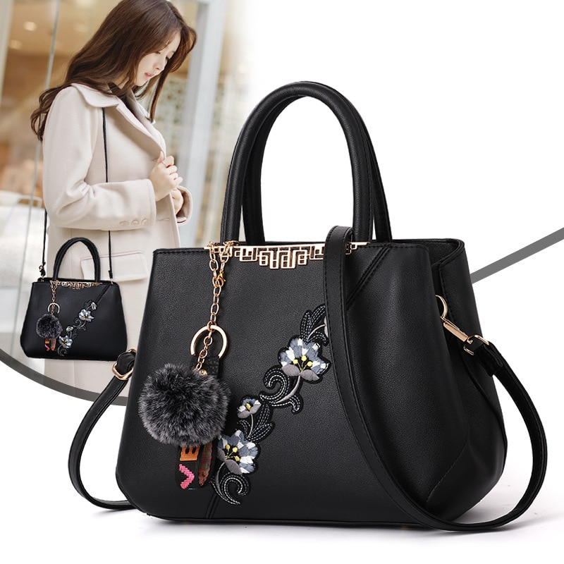 Tamara Embroidered Messenger Bags Women Leather Handbags Bags for Women 2021 Sac a Main Ladies Hand Bag Female bag new