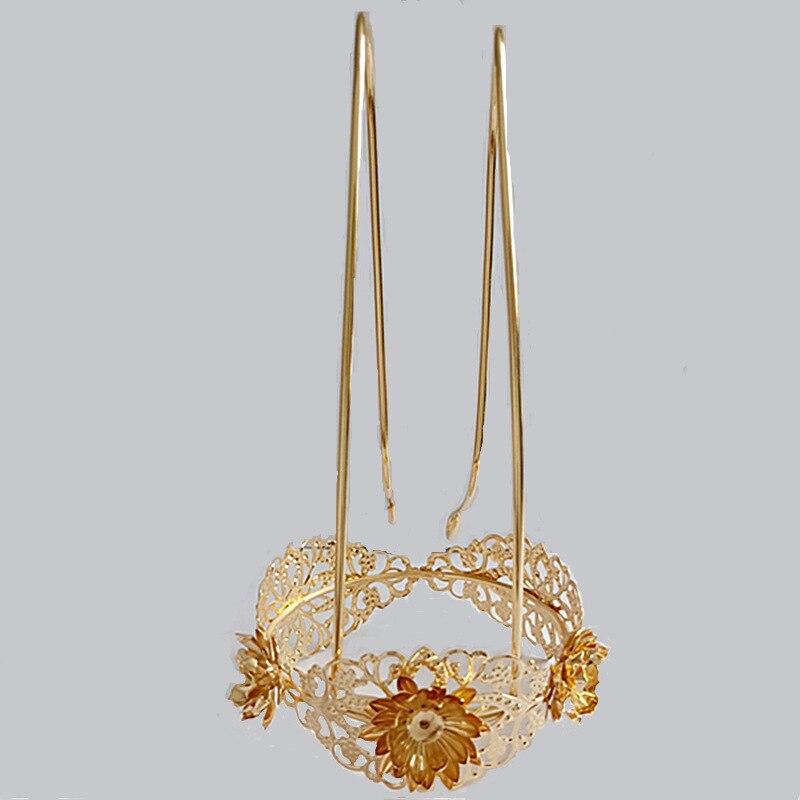 5 uds. 8*8,5 cm estilo antiguo hairdress Hanfu corona decoración cabeza corona paso sacudida vestido borla Decoración Accesorios aleación