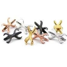 2 pièces/lot Dragon griffe Zircon entretoise perles poulpe tentacules breloques viande cuivre perle en vrac pour Bracelet bijoux Bracelet faisant bricolage
