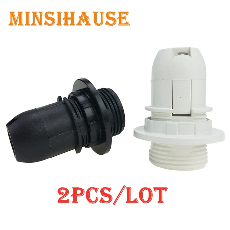 2 uds. 250V 2A E14 Base de lámpara pequeño tornillo Edison SES zócalo lámpara cubierta de la Base soporte bombilla lámpara colgante Tulipa CE