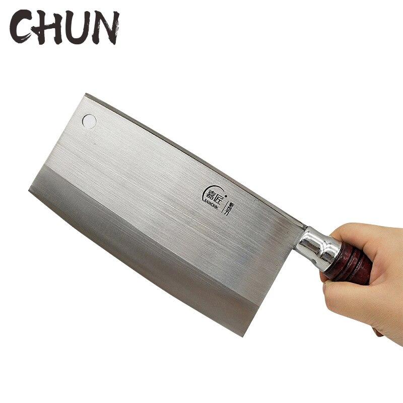 CHUN, cuchillos de cocina hechos a mano, cuchillos de cocina profesionales chinos, cuchilla súper afilada, 4Cr13 cuchillo para cortar, cuchillo forjado para Chef, herramientas de cocina