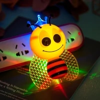 bee cartoon night light night lamp plug colorful cute bedside lights optically controlled induction bedroom childrens gifts