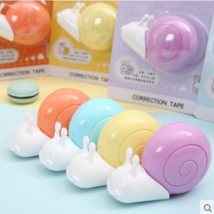 1 unidad Lytwtws Cute Kawaii Cartoom caramelo Color caracoles cinta de corrección papelería oficina escuela suministros 6 m de longitud