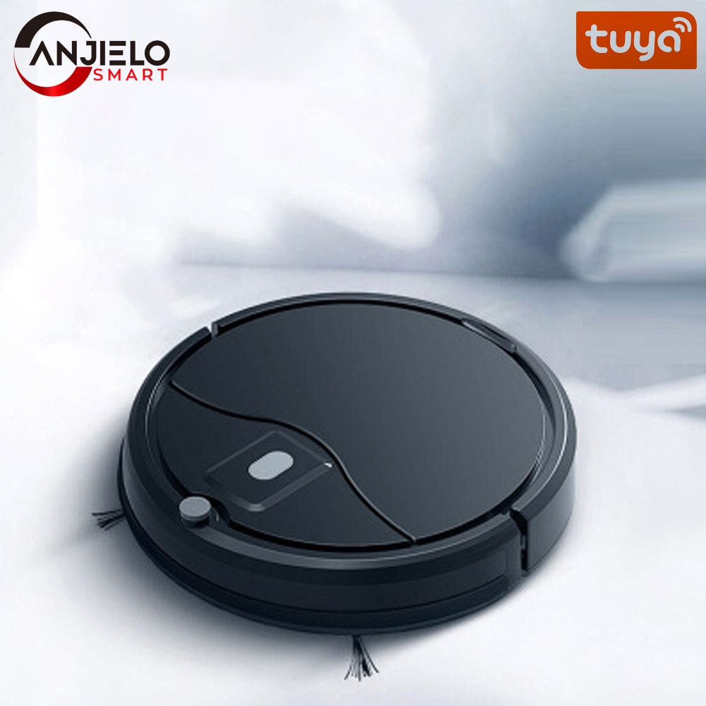 Anjielosmart Tuya WIFI Robot Vacuum Cleaner Mop, 1200Pa Strong Suction, 2000mAh, Smart Self-Charging Robotic Vacuum Cleaners