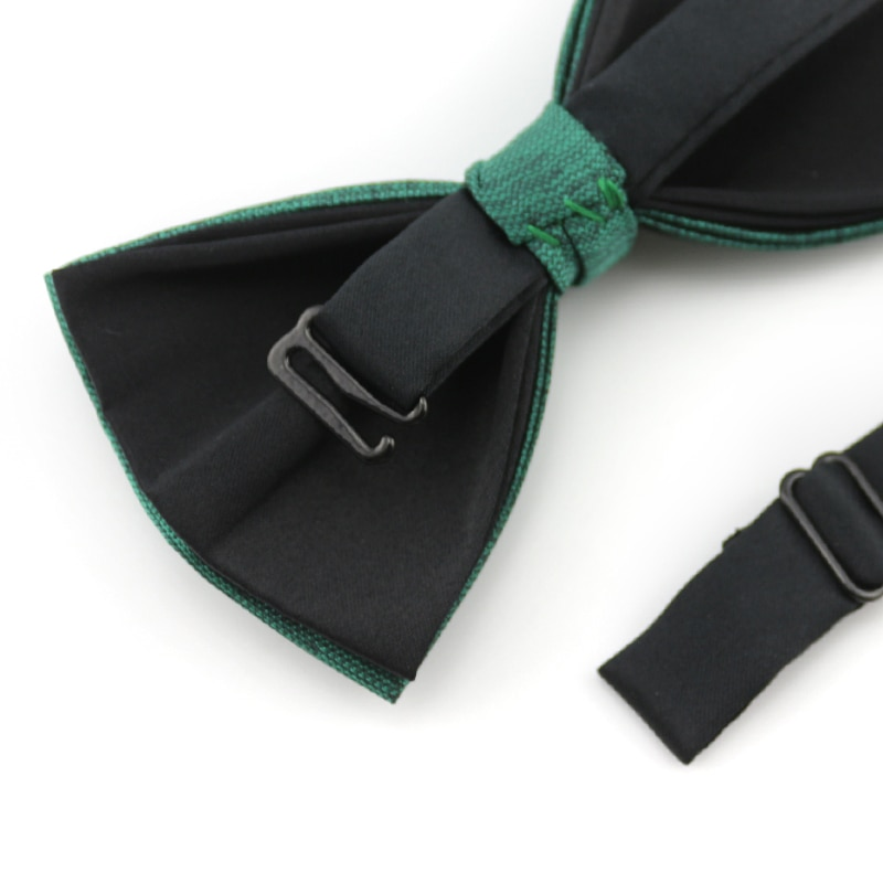 2019 New Fashion Men's Bow Ties for Wedding Double Fabric Green Bowtie Club Banquet Wedding Formal Butterfly Tie with Gift Box