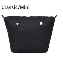 Inner Lining Insert Zipper Pocket for Classic Mini Obag Canvas Insert with Inner Waterproof Coating