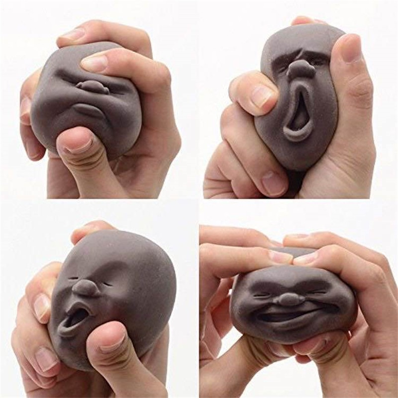 4PCS/SET Squishy Toy Human Face Emotion Vent Ball Stress Relieve Adult Decompression Toys Anti Stress Ball Jokes Funny Toy enlarge