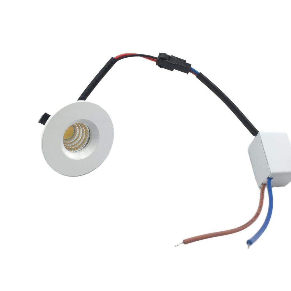 10 قطع 3 واط LED مصباح صغير اينبولوتشتي Rund verstellbarer بقعة Deckenlampe 220 فولت LED-Schrankleuchte