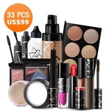STARWAY professionnel 33 pièces ensemble cosmétique Kit de maquillage cosmétiques prix de gros rouge à lèvres fond de teint Highter ombre à paupières Mascrar