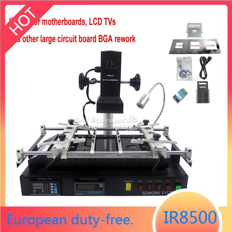 IR8500 بغا محطة اللوحة المحمول رقاقة PCB إصلاح الأشعة تحت الحمراء لحام آلة 4 قطعة pcb الرقصة مع المسمار ل تلفزيونات LCD