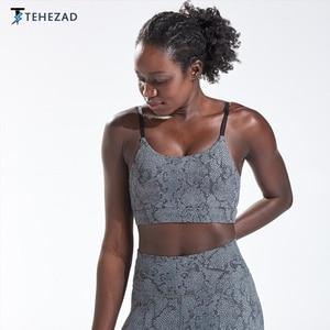 TEHEZAD Women Yoga Sport Top Running Tank Ladies Camis Fitness Female Clothing Gym Workout Large Size Push Up Underwear