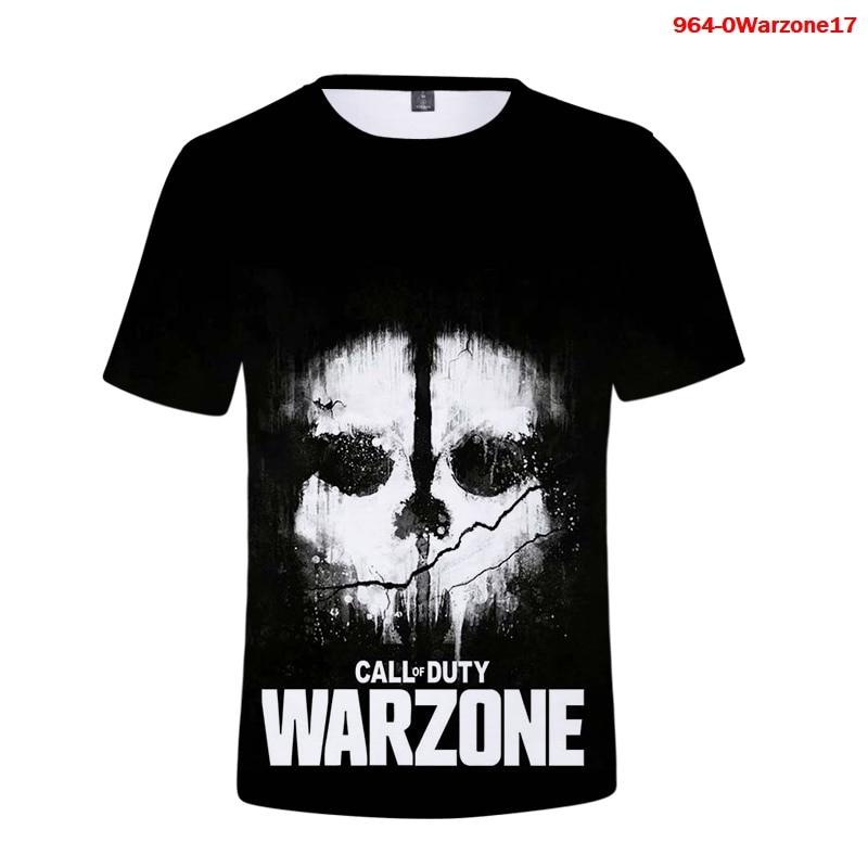 Call of Duty Warzone 3d T Shirt Summer Men Tees Boys Girls Fashion T-shirt 3D Sport Dry Fit Running Fitness Workout Tee Shirts