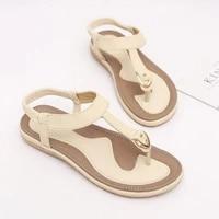 new women sandals flat heel summer casual flip flops single ladies shoes woman soft sole slippers