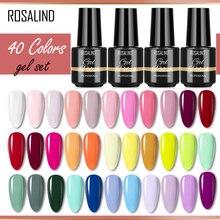 ROSALIND 40 Colors Gel Set Hybrid Varnishes Nail Polish Everything for Manicure Gel Varnishes Kit Na