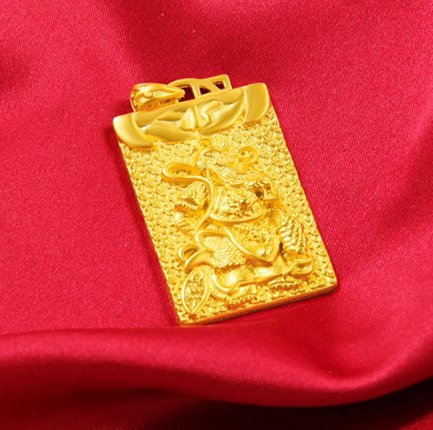 hi ! Hot guangong 24k Gold  pendant men's pendant classic male Jewelry birthday gift