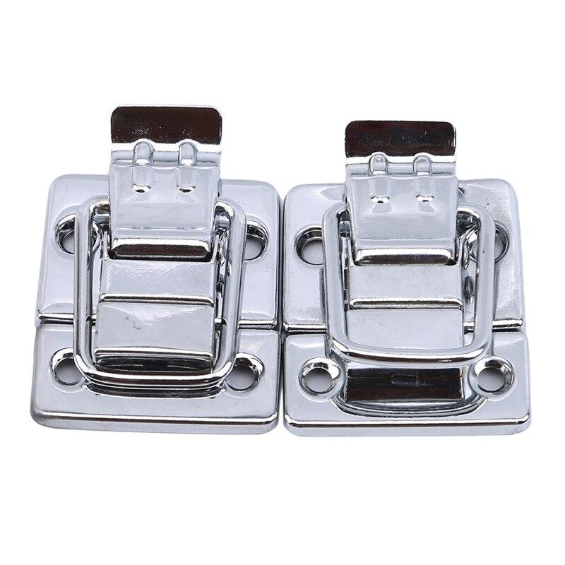 الفولاذ المقاوم للصدأ الكروم تبديل مزلاج لحقيبة صندوق الصدر حقيبة أداة المشبك خزانة تركيب قفل حزام غلق بمشبك الأجهزة