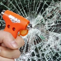 mini safety hammer emergency car hammer glass breaker seatbelt cutter window escape blade tool