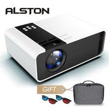 ALSTON TD90 HD Mini Projektor 3500 Lumen 720P Unterstützung 1080P LED Android WiFi Projektor Video Home Cinema HDMI VGA AV Film Spiel