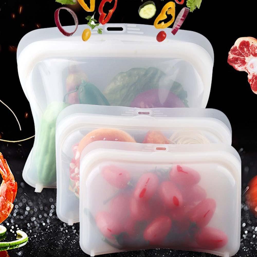Силиконовый Пакет для еды, герметичный многоразовый пакет для сохранения свежести фруктов и овощей, герметичный, с подогревом, для хранения пищи, кухонные аксессуары