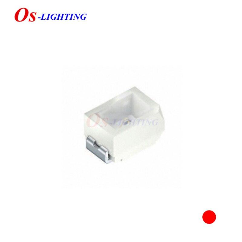 Lampes led, 10 pièces, LS M676 LSM676 mini 0805, SUPER rouge, 20ma, 2V 633NM-645nm, 140mcd, 2.0x1.4mm, perles lumineuses (LS M676-P2S1-1-Z)