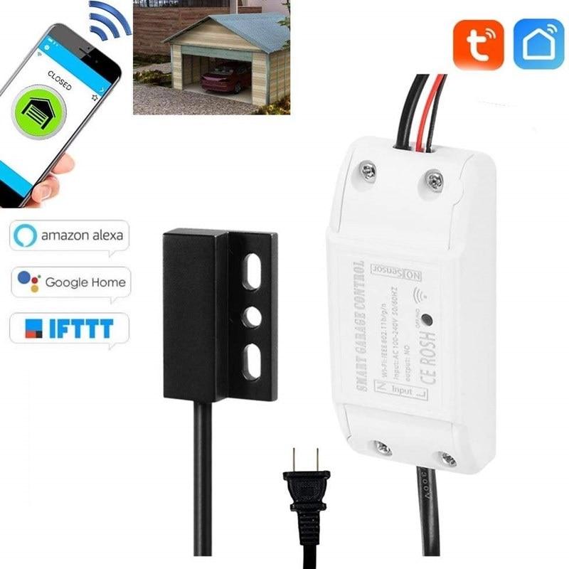 Смарт-Открыватель для гаражных дверей с Wi-Fi и управлением через приложение, совместим с Amazon Alexa Google Home IFTTT, голосовое управление