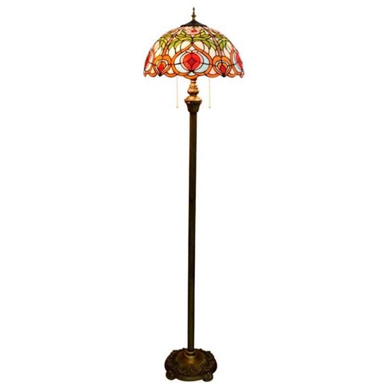Lámpara de pie de vestíbulo Led clásica europea Lámpara de lectura Luz de suelo 1254