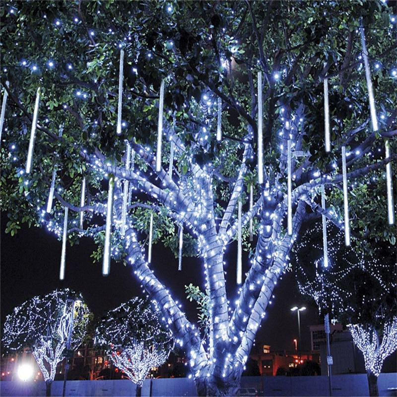 30cm 8 Tubes LED Solar Meteor Shower Rain Lights Outdoor Waterproof Christmas Solar String Light for Wedding Party Decoration enlarge