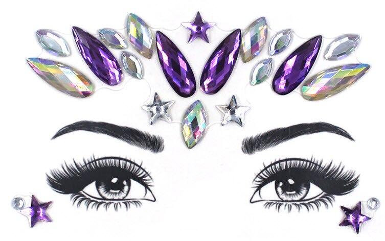 Косметики Товара Акриловые Лицо Глаза стикер кристалла косметики стикер для рукоделия вечерние макияж стикер