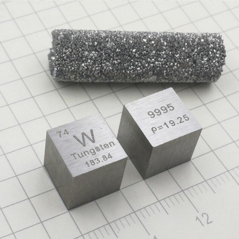 10mm tungstênio w cúbico tabela periódica cubo 99.95% puro tungstênio cúbico metal presente raro elemento de tungstênio bloco amostra