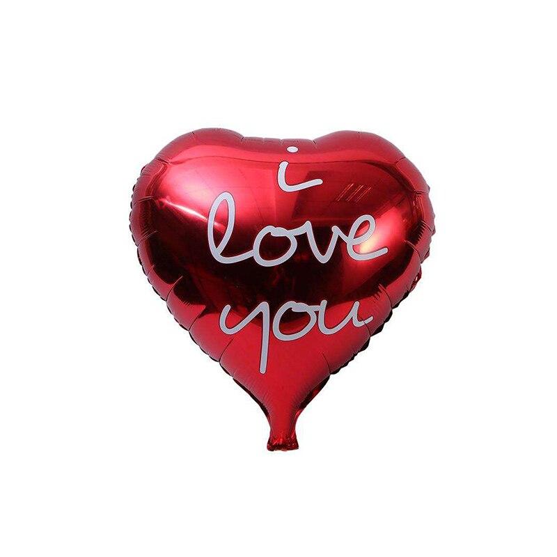 32 pouces grand coeur rouge fête de mariage Decoration feuille ballons hélium Ballon saint valentin amour cadeau anniversaire jo