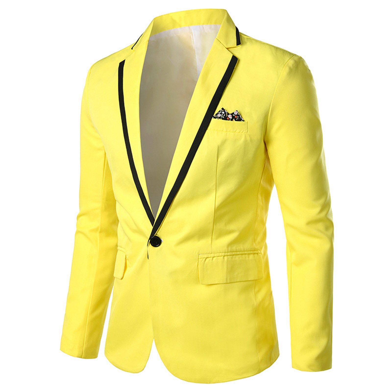Men's Slim Fit Office Blazer-Jacket Fashion Casual Business Wedding Long Sleeve Buttons Slim Fit Sui
