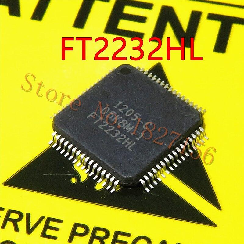 1pcs/lot FT2232 FT2232HL LQFP64 In Stock   Dual High Speed USB to Multipurpose UART/FIFO IC