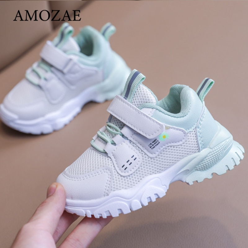 2021 Spring/Summer New Girls Shoes Kids Boys Sports Shoes Mesh Breathable Non-Slip Wear-Resistant Baby Shoes Casual Shoes