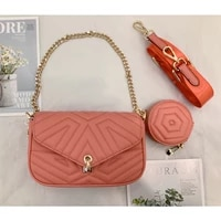 new style portable diagonal one shoulder chain leather ladies bags wallets and handbags