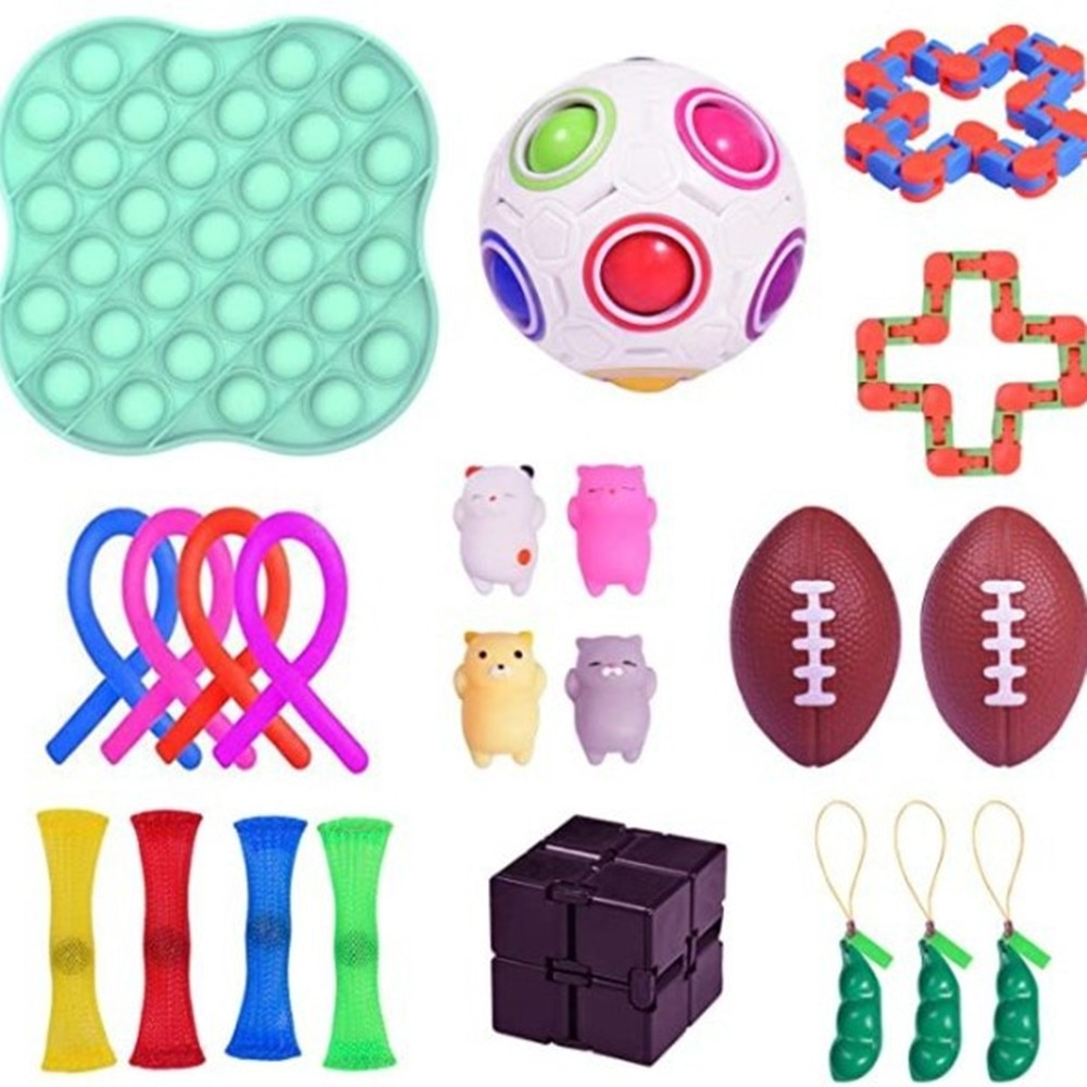 Fidget Toys Pop It Anti Stress Set Stretchy Strings Popit Gift Pack Adults Children Squishy Sensory Antistress Relief Figet Toys enlarge