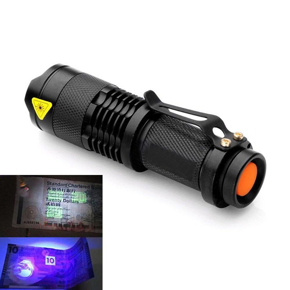 УФ фонарик фонарик свет Blacklight лампа AA батарея питание для маркера проверки