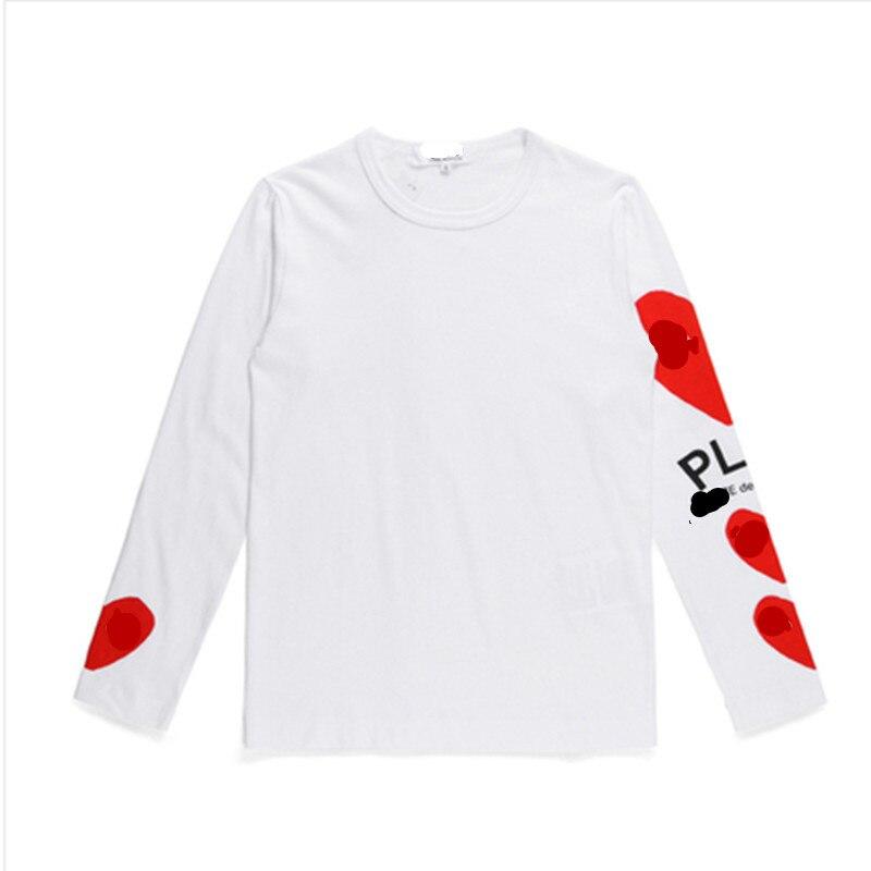 Фото - Свитшот для влюбленных, хлопковый свитер с круглым вырезом, Повседневная Вышивка, футболка с длинными рукавами love, свитер с длинными рукава... футболка laredoute с круглым вырезом и длинными рукавами massachusetts l белый