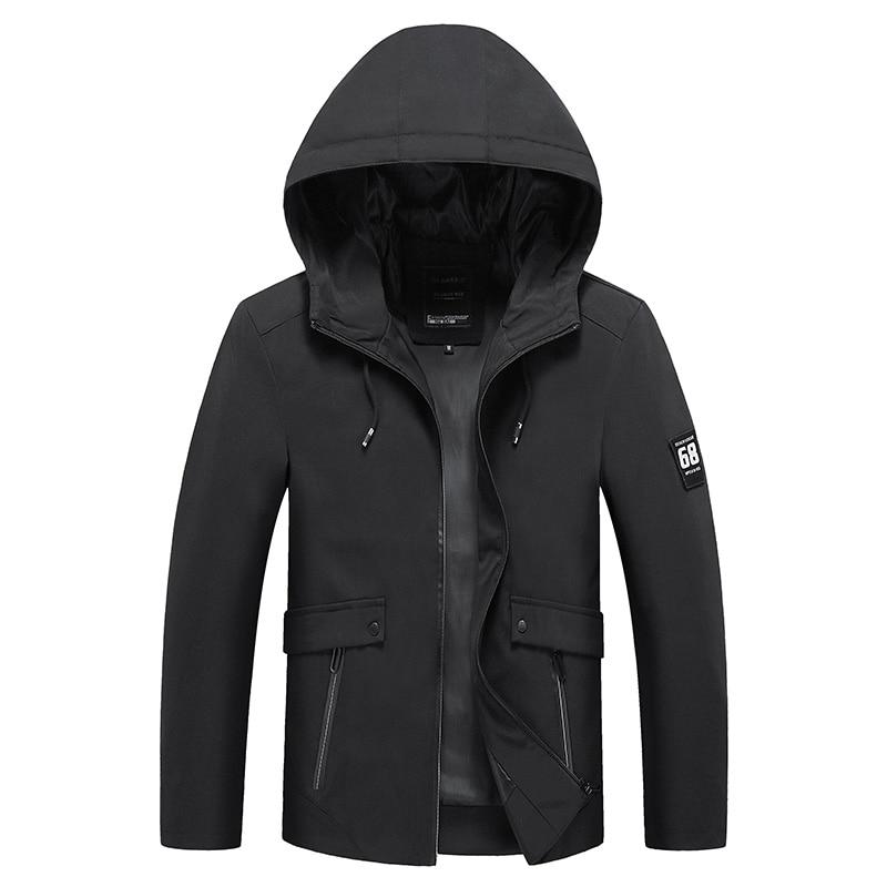 Mens Jacket New Fashion Coat Mens Hooded Jacket Korean Version Slim Fit Jacket Male Spring Autumn Coats Asia Size M- 4XL