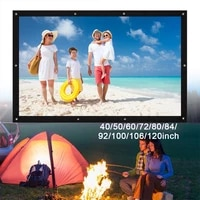 4 3 projecteur ecran Polyester   spandex materiel Videoprojecteur pour Home Cinema 4K video Projecteur Lumens HD Portable LED