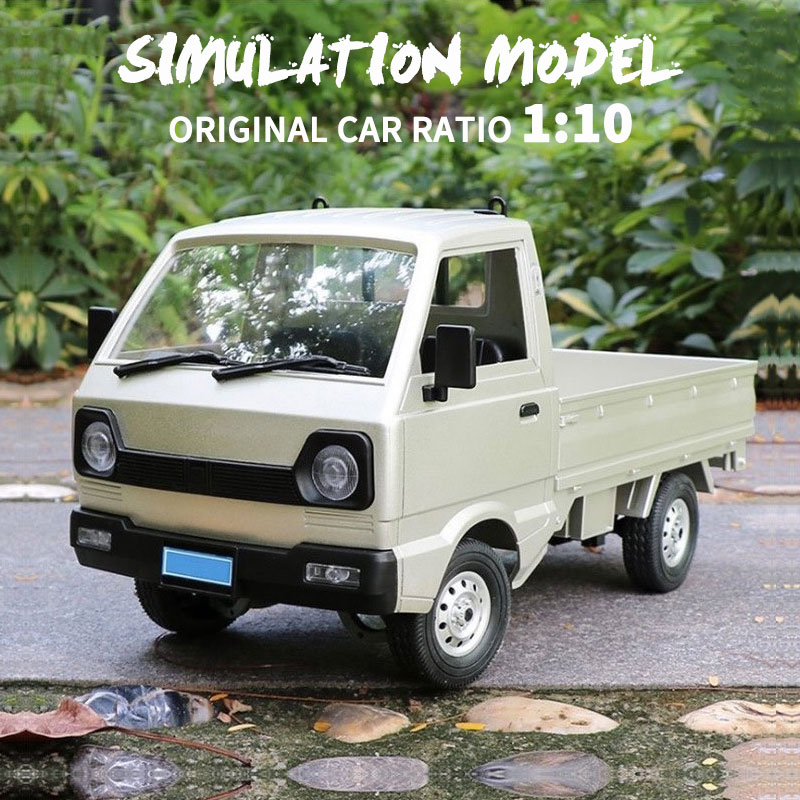 D12 C24-1 RC CAR 1/10 Simulation Drift Climbing Truck LED Light On-Road Haul Cargo Remote Control Electric Toys For Children enlarge