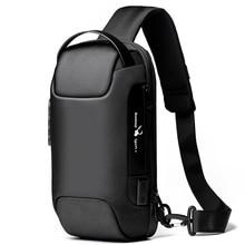Men's USB Waterproof Oxford Crossbody Bag Anti-theft Shoulder Sling Bag Multifunction Short Travel M