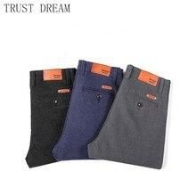 Spring Fall Man causal Pant Slim Linen Solid Colors Mens Basic Suits Pants Fashion Streetwear leisure Blue Black Gray