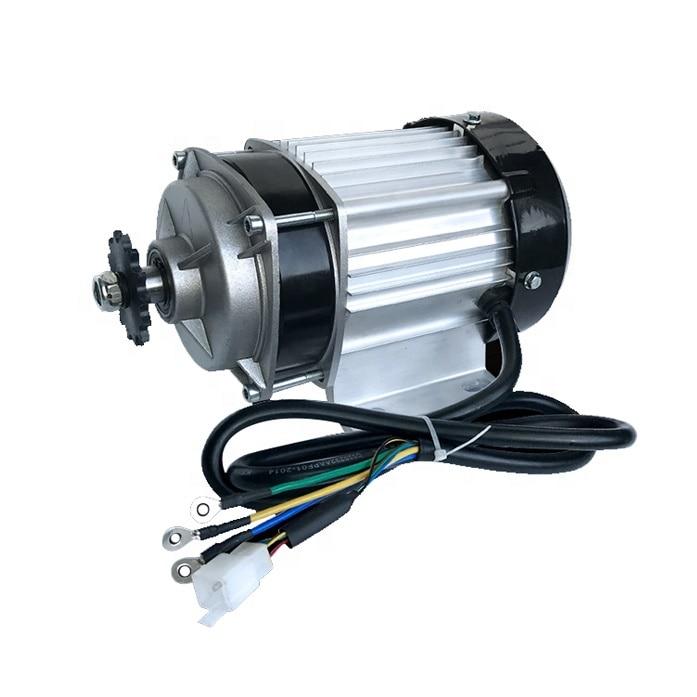 48 فولت 60V800W1000W الكهربائية ثلاث عجلات سيارة تعمل بالبطارية تيار مستمر تباطؤ فرش سلسلة محرك مركزي