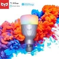 Yeelight     ampoule LED intelligente 1SE E27 6W RGB  telecommande vocale sans fil  lumiere coloree  fonctionne avec Google Assistant  alexa