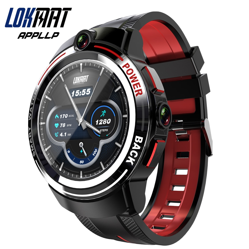Promo LOKMAT APPLLP 3 Android Smart Watch Men 1.39 inch Round AMOLED Screen Wifi 4G Smartwatch Women Dual Camera Calls Detachable Band