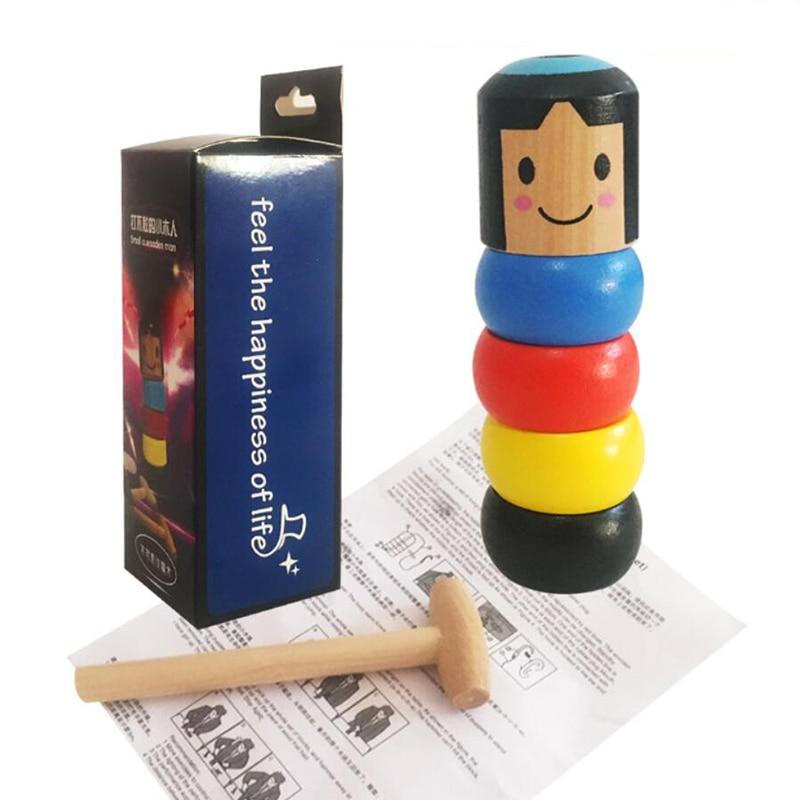 Inmortable Daruma trucos de Magia divertido Close Up Street Magia irrompible madera hombre Magie accesorios para trucos de ilusionismo juguetes para niños