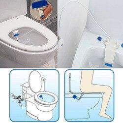Tipo de adsorção para o assento do toalete inteligente bidé nivelamento dispositivo sanitário limpeza inteligente bocal de chuveiro