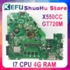 KEFU X550CC pour ASUS X550CA R510C Y581C X550C X550CL ordinateur portable carte mère I7 CPU 4G testé 100% travail carte mère d'origine