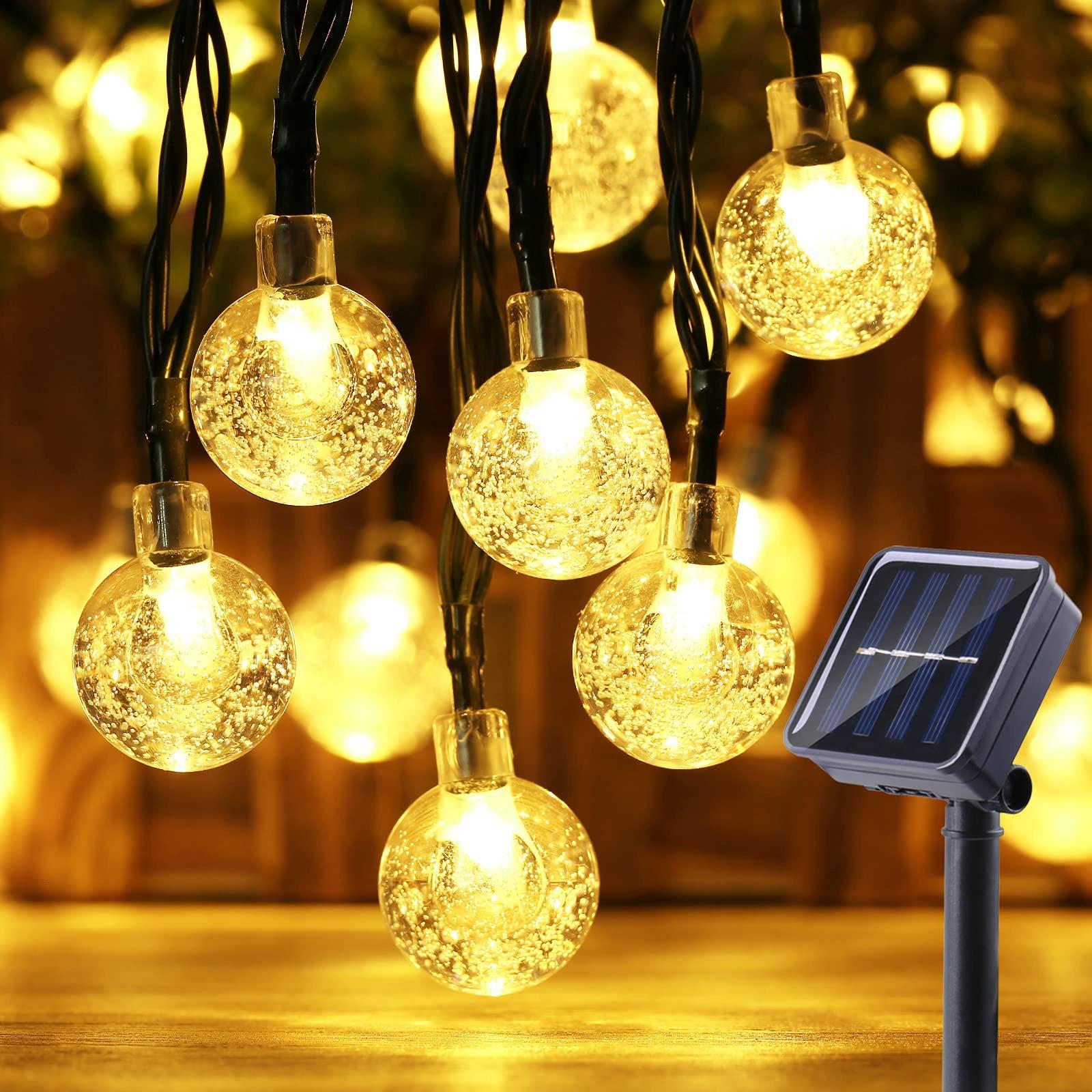 20/30/50 LEDS Crystal ball 5M/10M Solar Lamp Power LED String Fairy Lights Solar Garlands Garden Christmas Decor For Outdoor